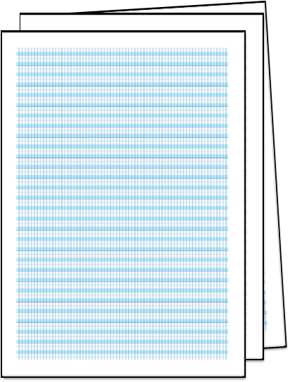 image of 3 sheets of grid paper