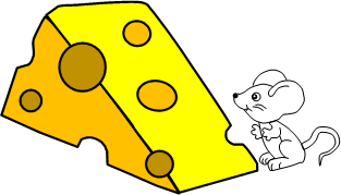 Image of mouse with swiss cheese to illustrate gaps in word skills