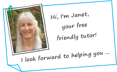 Image of Janet Denison the free friendly tutor offering help with word skills